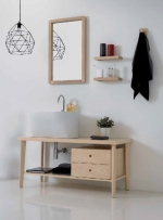 Постирочная раковина керамическая белая Tino Colavene мебель итальянская
