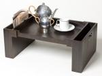 Wood Collection деревянный столик для постели Дуб Smoked