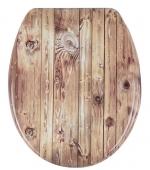 Сиденье для унитаза Деревянное с микролифтом крышки
