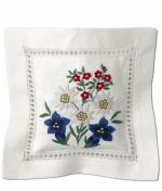 Саше хлопковое цветная вышивка Деревенский букет с наполнителем Лаванда от Le Blanc