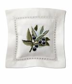 Саше хлопковое цветная вышивка Оливки с наполнителем Лаванда от Le Blanc