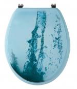 WATERJET сиденье для унитаза с микролифтом, декор Водяная струя