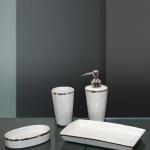 Sofia Nicol аксессуары для ванной настольные платиновые фарфоровые комплект