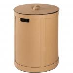 Storage Brow кожаная корзина для белья универсальная с крышкой круглая