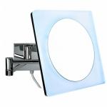 Зеркала косметические с подсветкой увеличением настенные настольные Зеркала с присосками. COLOMBO зеркало косметическое настенное с LED подсветкой и увеличением x3 B9756