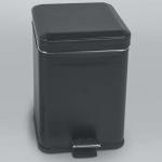 Colombo Black & White ведро с педалью кожаное Чёрное 3 и 6 литров