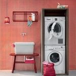 Итальянская мебель для постирочной шкаф для стиральной и сушильной машины BIREX ACQUA e SAPONE