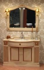 Мебель для ванной комнаты. Мебель для ванной умывальник с зеркалом CYRANO