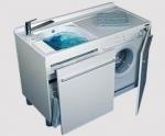 Постирочная раковина с крылом для стиральной машины белая Colavene Active Wash
