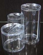 Контейнер для ватных дисков ватных палочек и шариков, акрил, моноблок