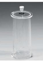Контейнер для ватных дисков прозрачный акрил-хром