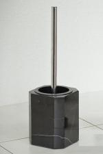 OCTAVIA Nicol ёршик для унитаза напольный чёрный мраморный