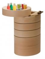 Этажерка для ванной и интерьера Buk Oval деревянная овальная