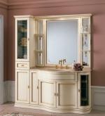 Мебель для ванной комнаты. Мебель для ванной Eurodesign умывальник с зеркалом IL Borgo gold-silver 28