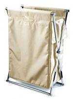 Decor Walther Корзина для белья CROSS складная с текстильным мешком Крем