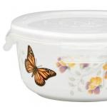 Ёмкости для хранения кухонные. Фарфоровый контейнер для хранения с крышкой 14,5 см Бабочки на лугу
