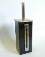 Arches Marmores ёршик для унитаза напольный чёрный керамический квадратный Бронзовый декор
