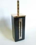 Arches Marmores ёршик для унитаза напольный чёрный керамический квадратный Золотой декор