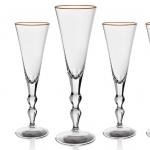 Набор из 4 фужеров для шампанского 190 мл Офелия в подарочной коробке Moser
