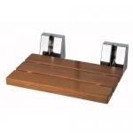 Откидное сиденье для душевой кабины и душа деревянное складное настенное Тиковое Lineabeta