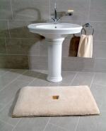 Коврики для ванной комнаты. Коврик для ванной комнаты PIAZZA Nicol люрекс золотой серебряный