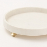 Поднос мрамор Quintessential Tray-Circle-White