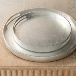 Nouveau Luxe Tray-Silver Leaf