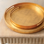 Круглый поднос Nouveau Luxe Tray-Gold Leaf