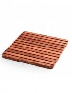 Деревянная решётка для душа и ванны квадратная Тиковая