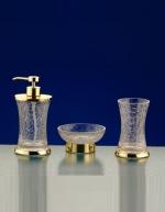 SPLIT Nicol настольные аксессуары для ванной золото, кракелюрное стекло