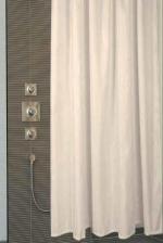 Thetis шторка для душа и ванны текстильная Бежевая