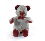Мишка (мягкая игрушка) в текстиле с голубым узором (34 см)