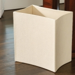 Аксессуары для кабинета Deluxe. Ведро Folded Leather Waste Basket-Ivory