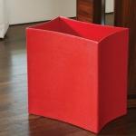 Ведро Folded Leather Waste Basket-Crimson