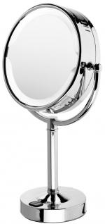 Tanja Nicol зеркало с подсветкой косметическое и увеличением 1х1 и 1х3 настольное двухстороннее