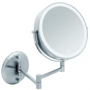 Зеркала косметические с подсветкой увеличением настенные настольные Зеркала с присосками. Venezia зеркало косметическое настенное с увеличением x1/х10 и подсветкой от аккумулятора и USB кабеля Сатинированное