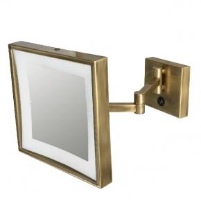 Зеркала косметические с подсветкой увеличением настенные настольные Зеркала с присосками. Specchio Ingranditore бронзовое косметическое зеркало настенное с увеличением 1х3 и подсветкой LED квадратное