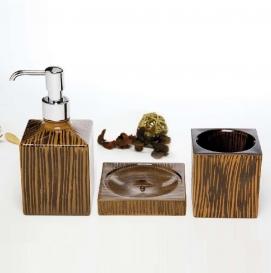 . Аксессуары для ванной Safari Marmores стеклянные настольные