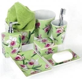 . Decor Walther Аксессуары для ванной настольные ORCHI фарфоровые с цветочным декором