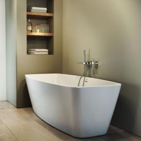 Ванны. Jacuzzi Esprit Ванна акриловая без смесителя, без наполнения, цвет белый-хром отдельностоящая