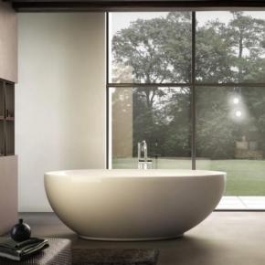 Ванны. Jacuzzi Desire Ванна без смесителя, без наполнения, цвет белый-хром отдельностоящая
