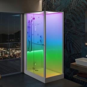 Душевые кабины Створки стеклянные Шторки для душа. Jacuzzi Bali Душевая кабина с хамамом