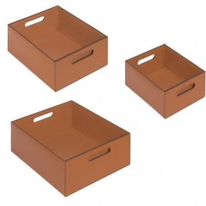 Хранение и порядок. SIENA ёмкости для хранения кожаные коробки