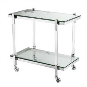 Журнальные Приставные Кофейные столы. Eichholtz Royalton столик универсальный сталь на роликах