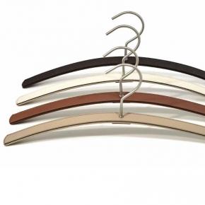 Вешалки для одежды. Pinetti BRIDGE вешалки кожаные с замшей