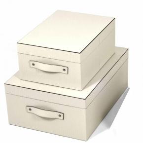 Хранение и порядок. Pinetti Ares кожаная коробка универсальная ёмкость декорированная прямоугольная