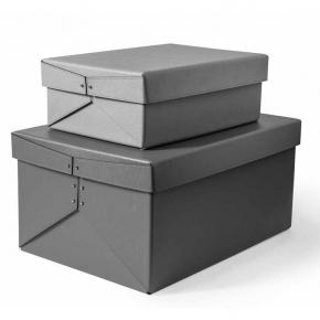 Хранение и порядок. Pinetti Origami кожаная коробка универсальная ёмкость