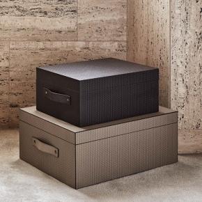 Хранение и порядок. Pinetti Ares кожаная коробка универсальная ёмкость декорированная