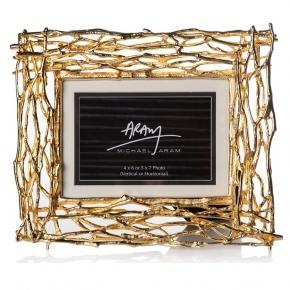 Рамки для фотографий Deluxe. Michael Aram Twig Frame Gold Золотые ветви рамка для фотографий