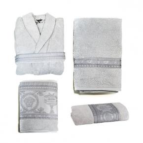 Халаты Одежда для бани и сауны Deluxe. Versace home collection I Heart ♡ Baroque Luxe халат махровый и полотенца